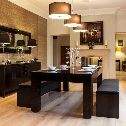 Pool Dining Tables - Duo Milano Pool Table Diner - Piano Black Gloss