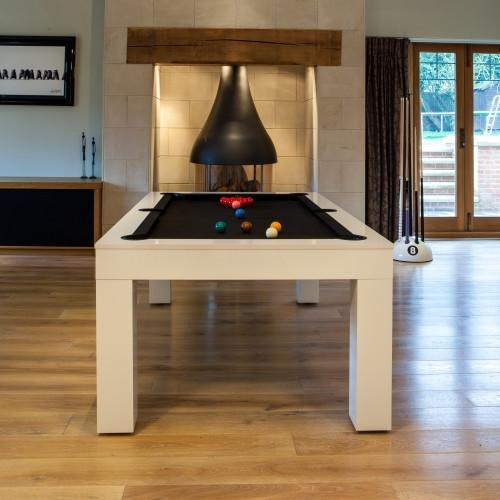 Fortuna Duo Milano Pool Dining Table 6ft 7ft High Gloss