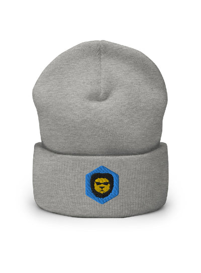 Badlion embroidered Beanie Heather Grey