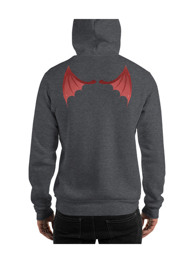 Badlion Hoodie Devil Wings Dark Grey