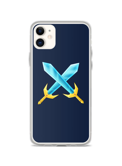 Badlion iPhone Case Crossed Swords Navy