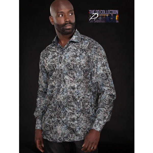 GQ Paisley Print Collar Shirt