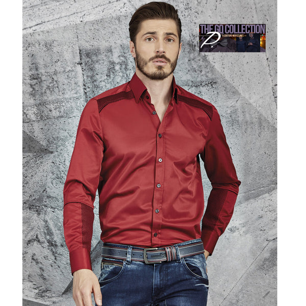 GQ Classic Men's Mesh Collar Shirt