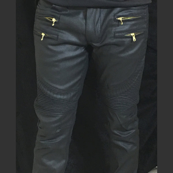 GQ Motorcycle Jeans with Zippers