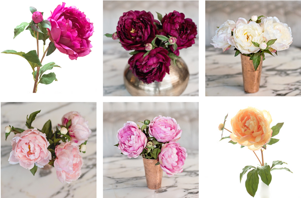 luxury artificial classic peonies
