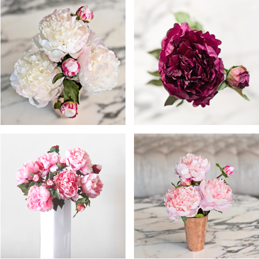 luxury artificial open peony