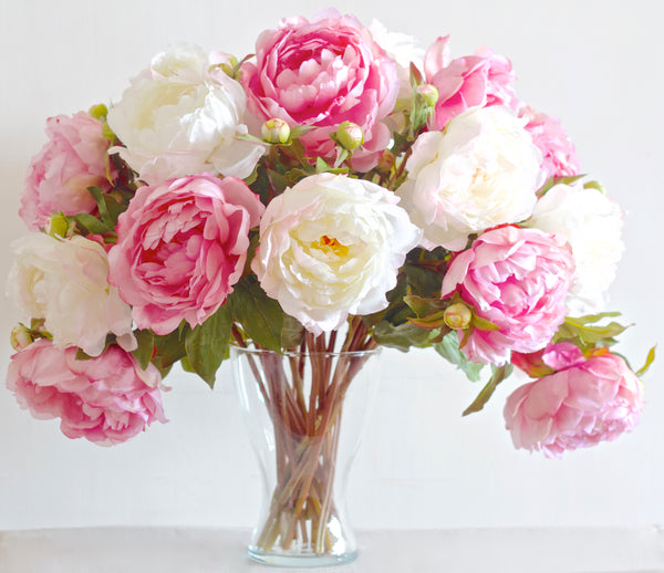 luxury artificial mixed peonies