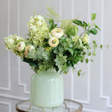 Artificial flowers luxury faux silk lifelike green light bouquet realistic faux flowers buy online from amaranthine blooms Hong Kong UK