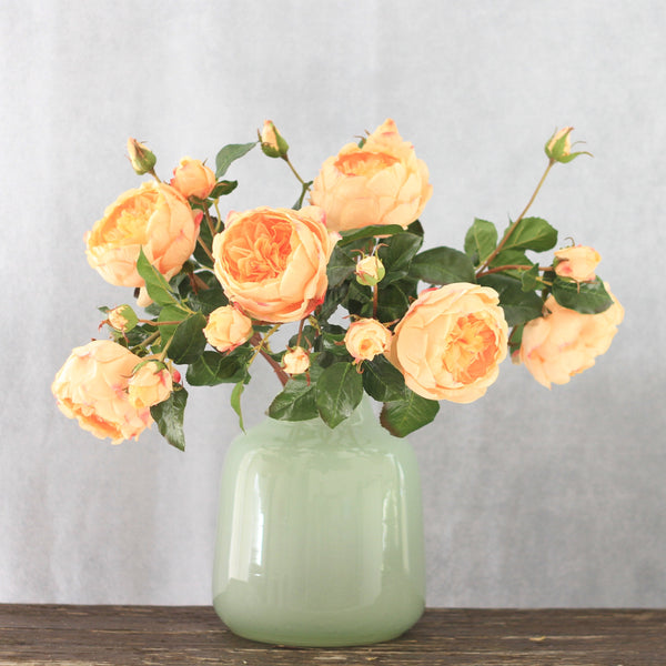 artificial flowers luxury faux silk peach english rose lifelike realistic faux flowers buy online from Amaranthine Blooms Hong Kong UK