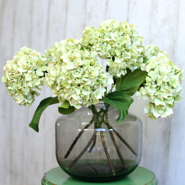 luxury artificial fake silk flowers green dried hydrangea bunch lifelike realistic faux flowers buy online from Amaranthine Blooms Hong Kong UK
