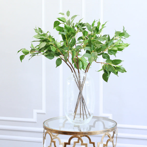 luxury artificial fake silk flowers green ficus leaf bunch lifelike realistic faux flowers buy online from Amaranthine Blooms Hong Kong UK
