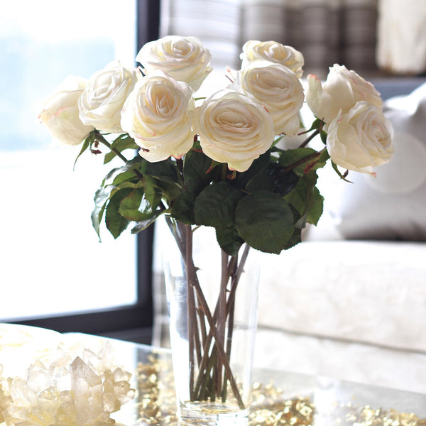 this luxury lifelike and realistic artificial large white rose silk flower is available from Amaranthine Blooms in Hong Kong and UK