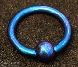 10G 11/16 Niobium Captive Bead Ring