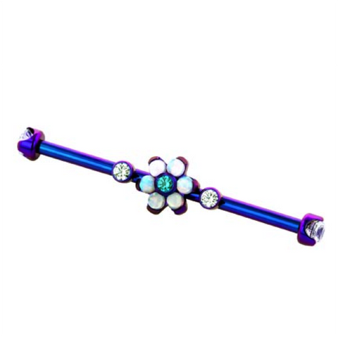 Purple Titanium Gemmed Industrial Bars