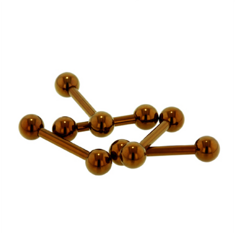 Brown Titanium Straight Barbells