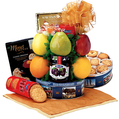Cookie Carnival Fruit Gift Basket