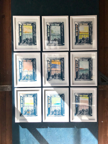 This Changing View - Linocut Print Series