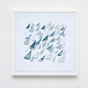 """Coastal Sails"" Silkscreen Print"