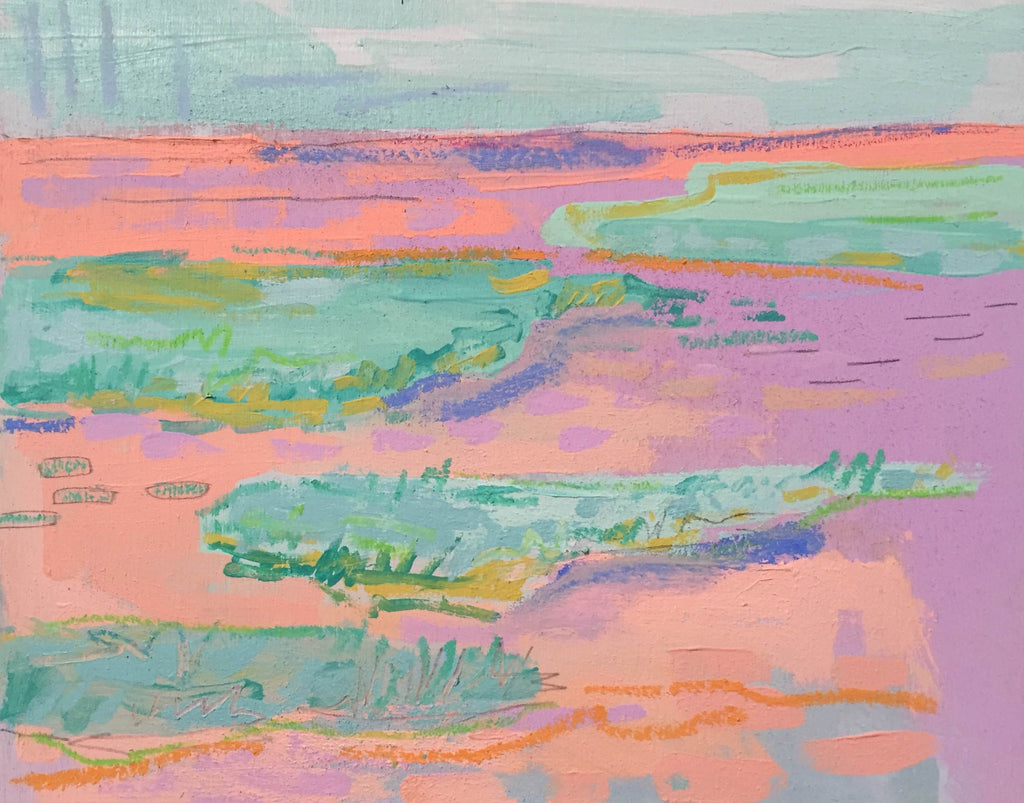 Clementine and Mauve Marsh