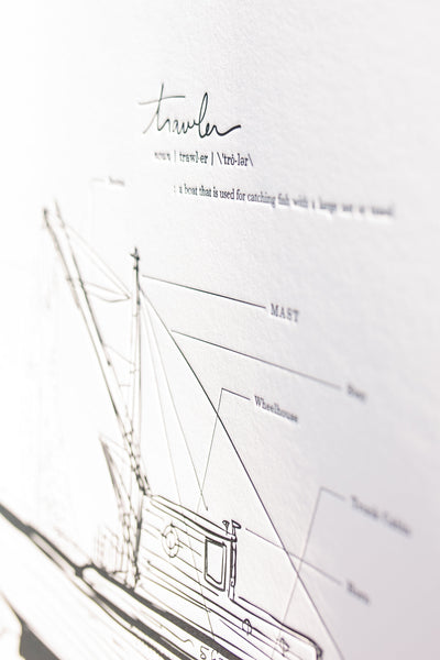 Sport Fisher: Letterpress Print
