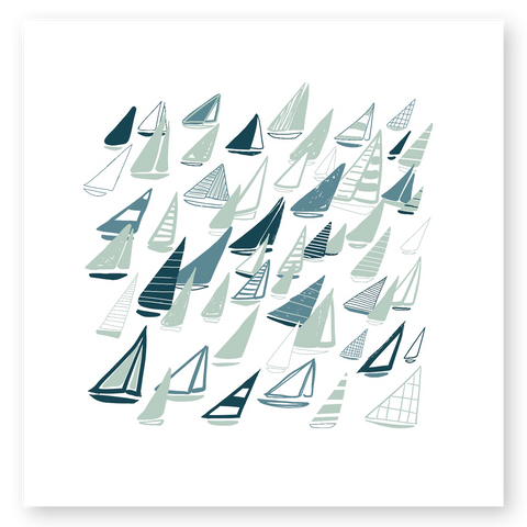 'Coastal Sails' Silkscreen Print