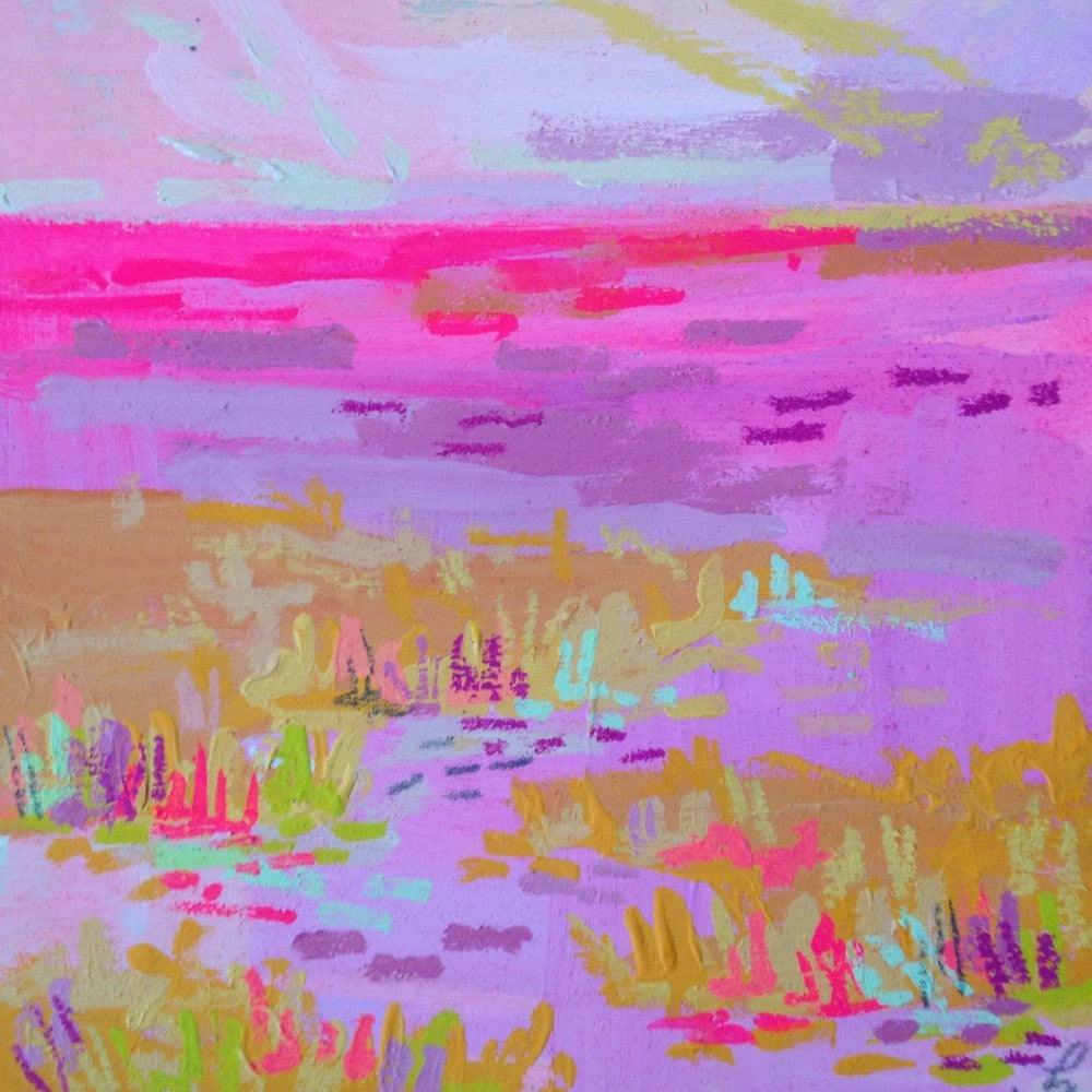 Tiny Pink Afternoon Marsh