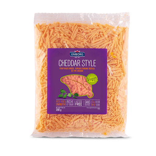 Vegan Cheddar Style Shredded Cheese, Emborg