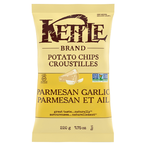 Kettle Cooked Potato Chip, Parmesan Garlic, Kettle Foods