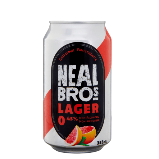 Non-Alcoholic Beer, Grapefruit, 0.45%, Neal Brothers