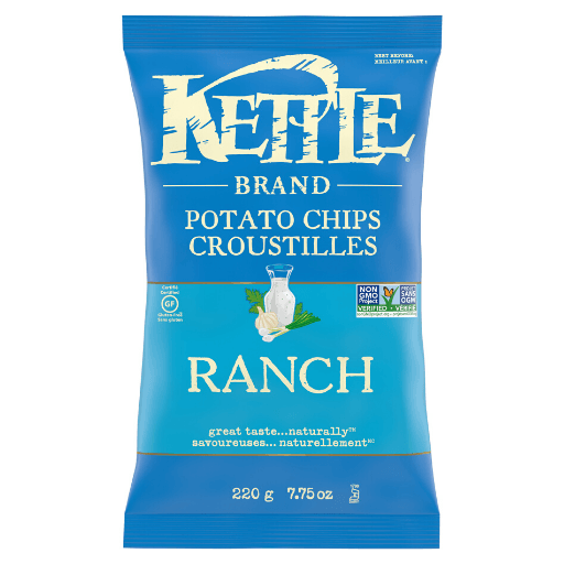 Kettle Cooked Potato Chip, Ranch, Kettle Foods
