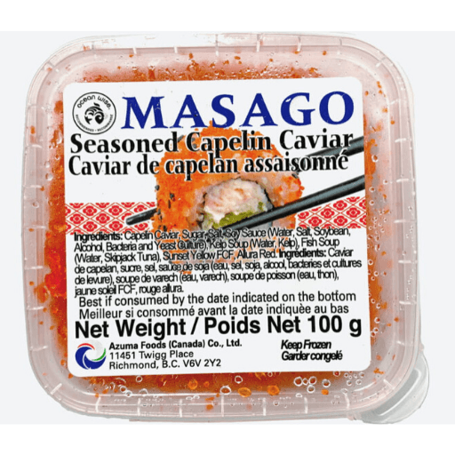 Masago, Seasoned Capelin Caviar, Frozen