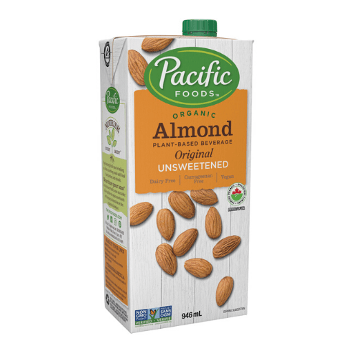 Organic Almond Milk, Original Unsweetened, Non-Dairy, Pacific Natural Foods