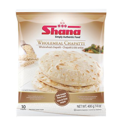 Chapatti, Wholemeal, 10 Pieces, Frozen, Shana