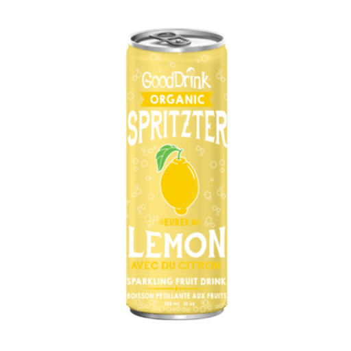 Good Drink, Organic Spritzer, Eureka Lemon