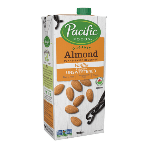 Organic Almond Milk, Vanilla Unsweetened, Non-Dairy, Pacific Natural Foods