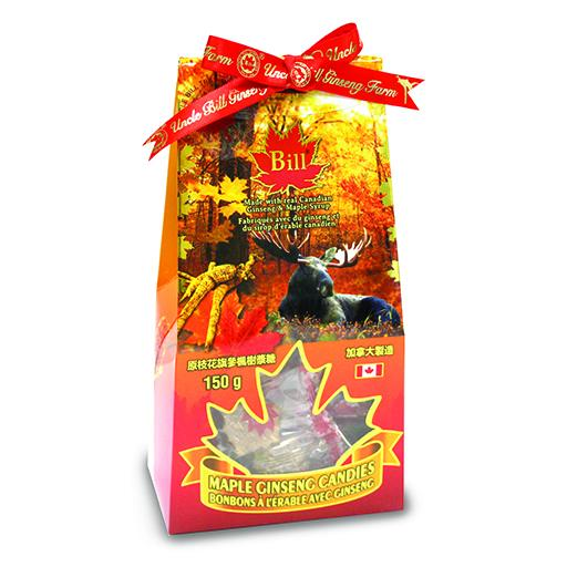 Bill Maple & Ginseng Candies, 150g in Box
