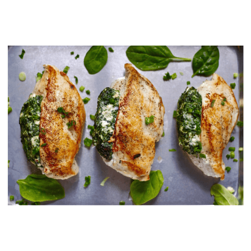 Feta and Spinach Stuffed Chicken Box, Frozen, Globe Meats