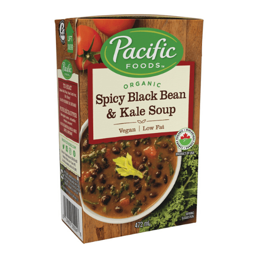 Organic Hearty Soup, Spicy Black Bean & Kale, Pacific Natural Foods
