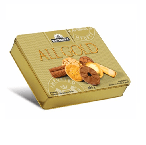 ALL GOLD Biscuit Assortment in Tin, Waterbridge