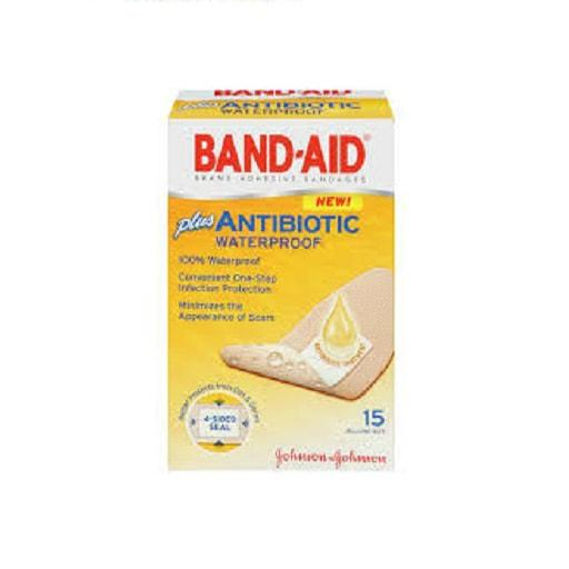 Band-Aid Adhesive Bandages, Waterproof, Antibiotic