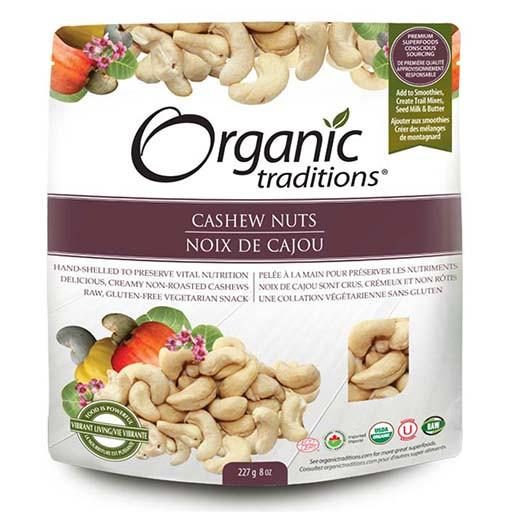 Cashew Nuts, Raw, Organic