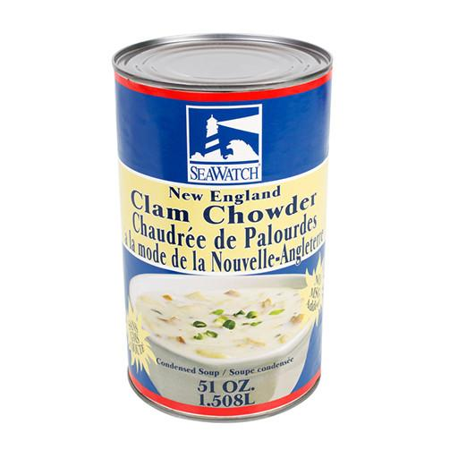 New England Clam Chowder, Canned Soup
