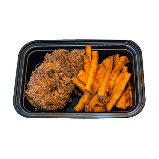Paleo Meal, Coconut Breaded Chicken with Sweet Potato Fries, Frozen