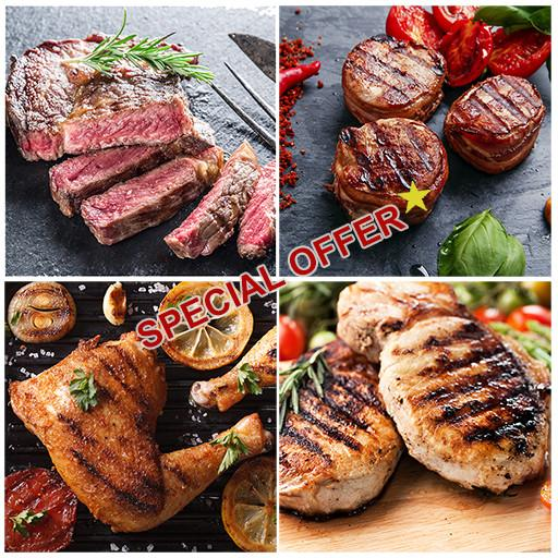 Natural Meat Combo, 4 Packages, Frozen, Farm 2 Fork