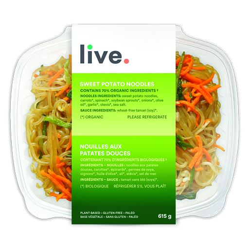 Cooked Meal, SWEET POTATO NOODLES, LIVE Organic