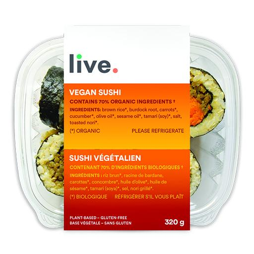 Cooked Meal, VEGAN SUSHI, LIVE Organic