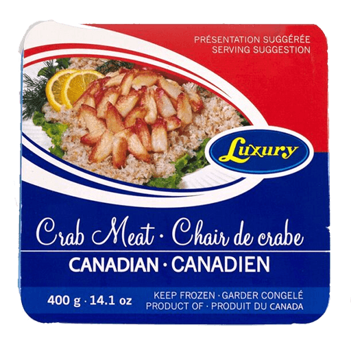 Luxury Canadian Crab Meat, Frozen