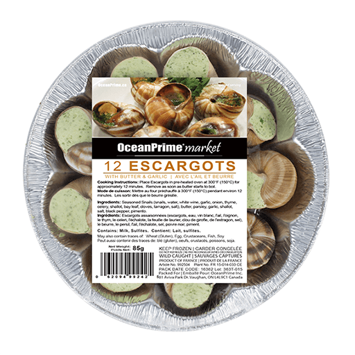 Escargot in Butter & Garlic, 12 Pieces, Frozen