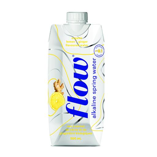 Flow Organic Alkaline Spring Water, Lemon Ginger