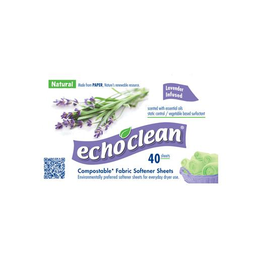 Fabric Softener Sheets, Lavender, Echoclean